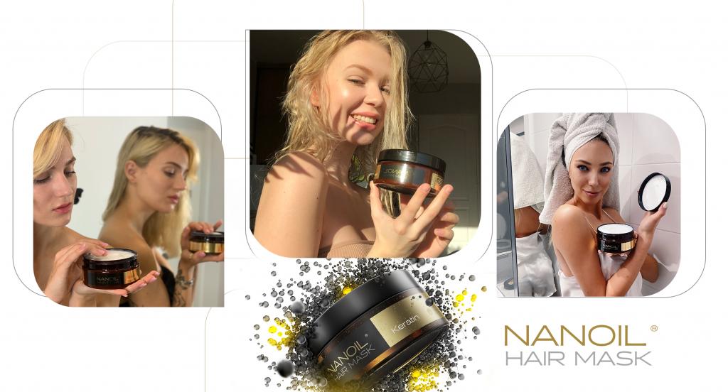 Nanoil Haarmasken mit Keratin
