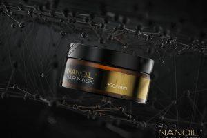 Nanoil Haarmaske mit Keratin gegen trockene, matte und strapazierte Haare